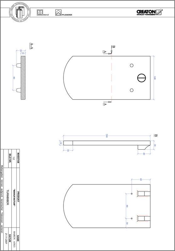 Prodotto file CAD MANUFAKTUR Taglio a segmento d'arco TURMBIBER
