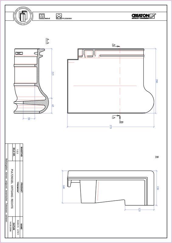 Prodotto file CAD PREMION Tegola di testata gronda di frontespizio destra PULTOGR