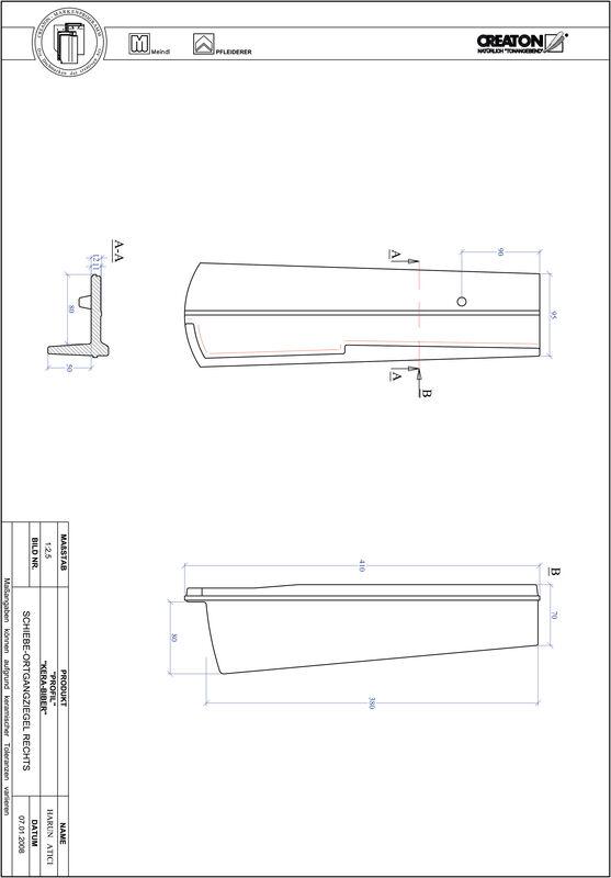 Prodotto file CAD PROFIL Taglio a segmento d'arco KERA-SAECHS-18-CM-OGR