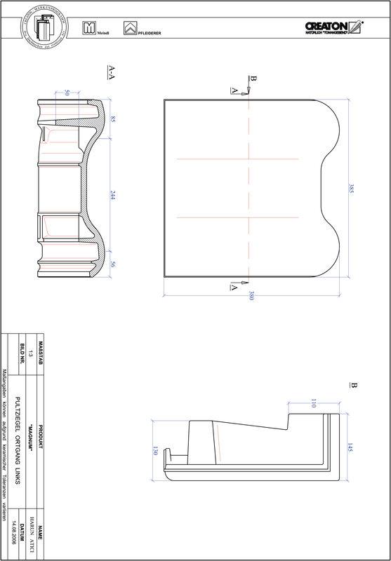 Prodotto file CAD MAGNUM Tegola di testata gronda di frontespizio sinistra PULTOGL