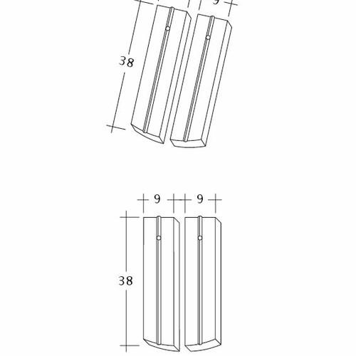 Prodotto disegno tecnico PROFIL Kera-Saechs-18cm-1-2