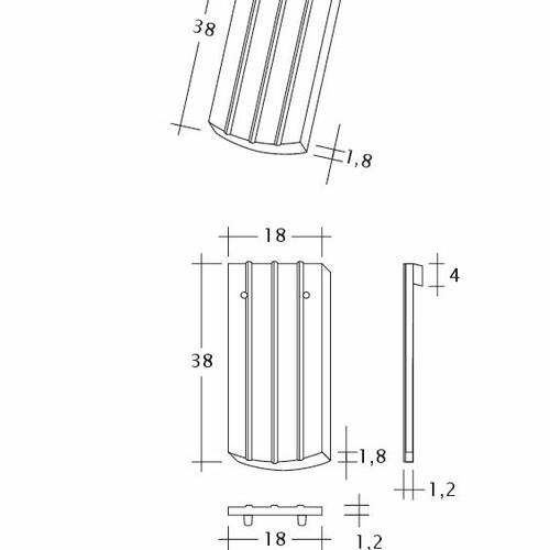 Prodotto disegno tecnico PROFIL Kera-Saechs-18cm-1-1