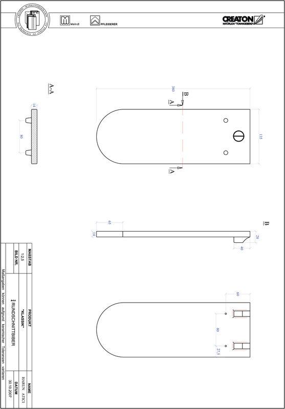 Prodotto file CAD KLASSIK Taglio tondo RUND-3-4