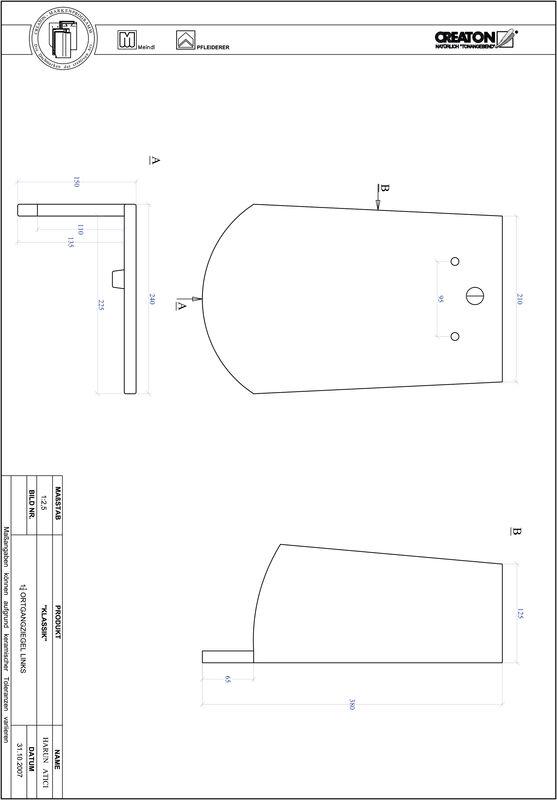 Prodotto file CAD KLASSIK Taglio tondo RUND-OGL-1-1-4