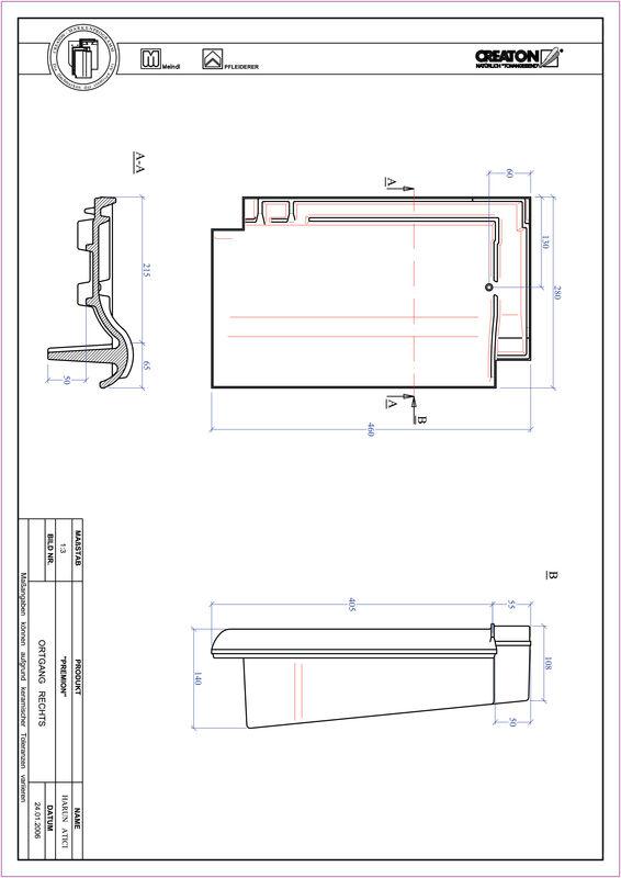 Prodotto file CAD PREMION Gronda di frontespizio destra OGR
