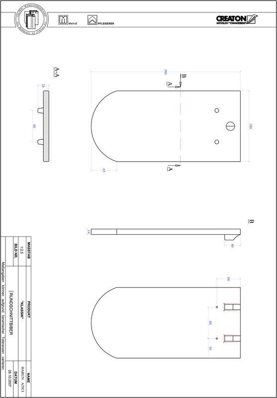 Prodotto file CAD KLASSIK Taglio tondo RUND-1-1