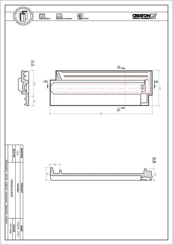 Prodotto file CAD TERRA OPTIMA Mezza tegola LH
