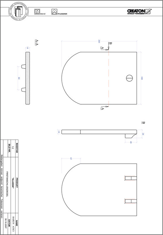 Prodotto file CAD KLASSIK Taglio tondo RUND-FAZ