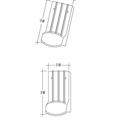 Prodotto disegno tecnico PROFIL Kera-Saechs-18cm-LUEFTZ