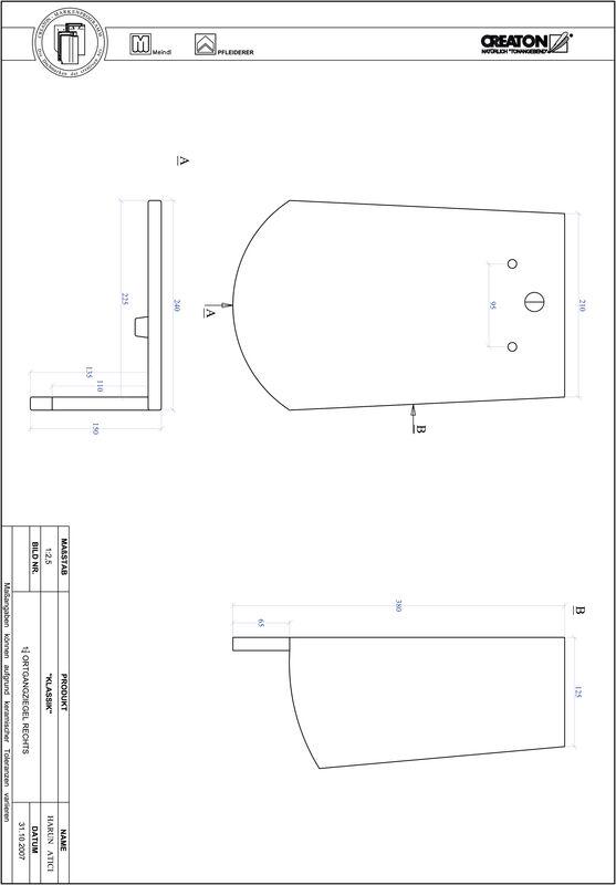 Prodotto file CAD KLASSIK Taglio tondo RUND-OGR-1-1-4