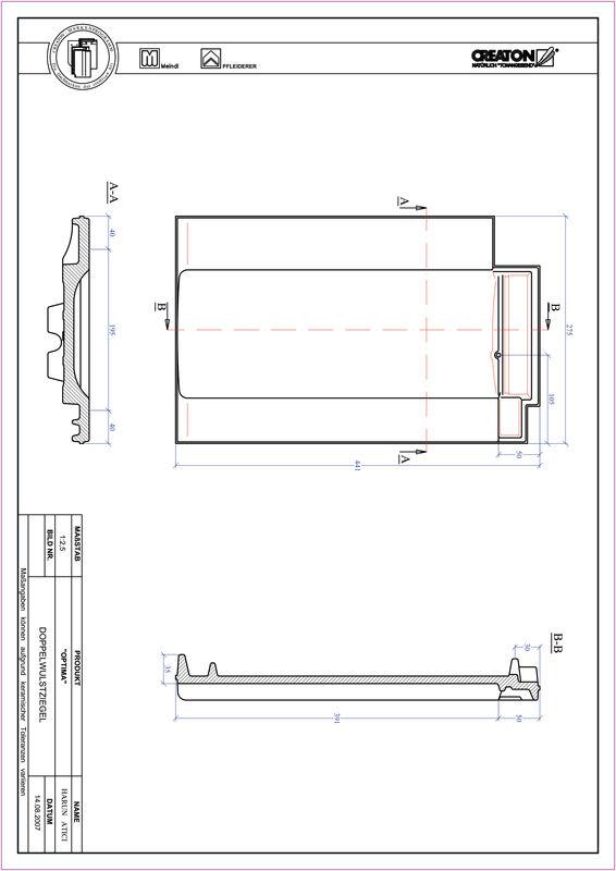 Prodotto file CAD TERRA OPTIMA Tegola a doppia onda DWZ