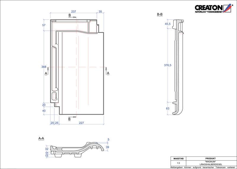 Prodotto file CAD MAGNUM Mezza tegola LH