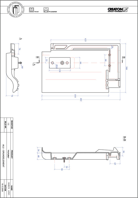 Prodotto file CAD FUTURA Alluminio base GRUNDALU