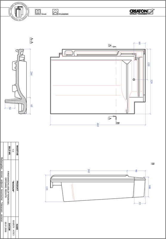 Prodotto file CAD MAGNUM Esalatore raccordo colmo gronda di frontespizio destra FALOGR