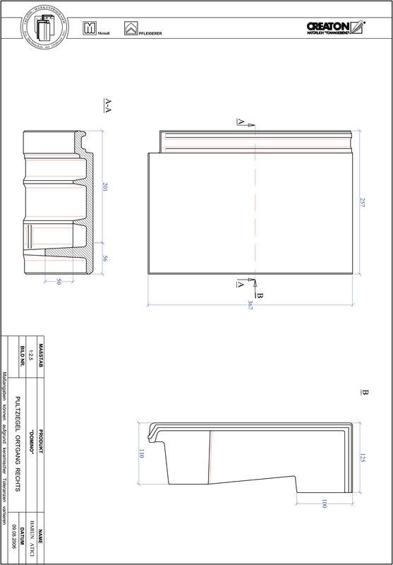 Prodotto file CAD DOMINO Tegola di testata gronda di frontespizio destra PULTOGR