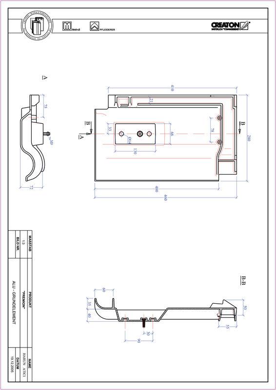 Prodotto file CAD PREMION Alluminio base GRUNDALU