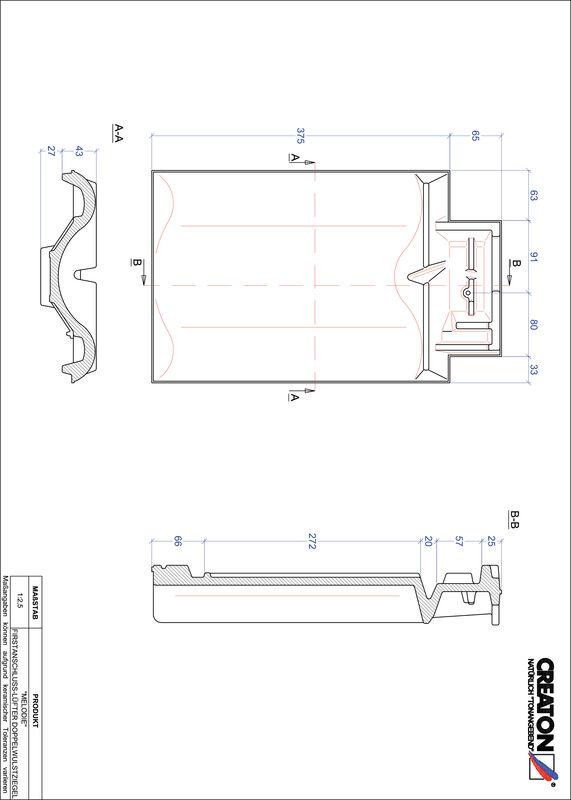 Prodotto file CAD MELODIE Esalatore raccordo colmo tegola a doppia onda FALDWZ