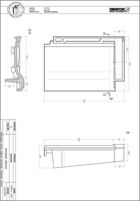 Prodotto file CAD MAGNUM Gronda di frontespizio destra OGR
