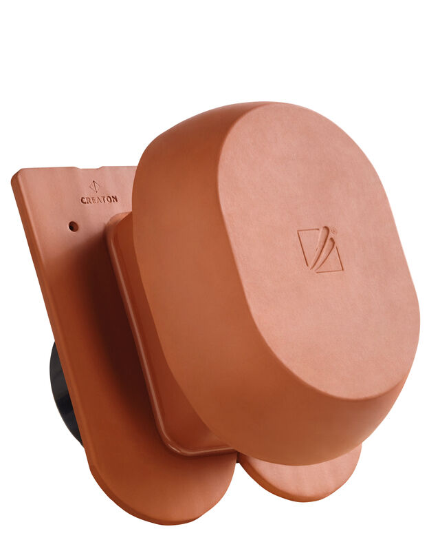 KLASSIK Taglio tondo SIGNUM scarico della condensa in ceramica DN 200 mm, incl. adattatore collegamento sottotetto