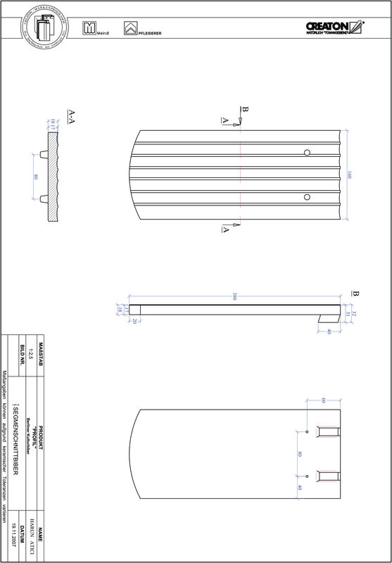 Prodotto file CAD PROFIL Taglio a segmento d'arco BKBI-1-1