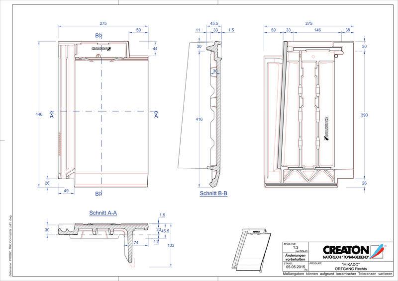 Prodotto file CAD MIKADO Gronda di frontespizio destra OGR