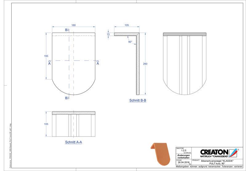 Prodotto file CAD KLASSIK Taglio tondo RUND-PULT-kurz