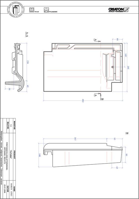 Prodotto file CAD FUTURA Esalatore raccordo colmo gronda di frontespizio destra FALOGR