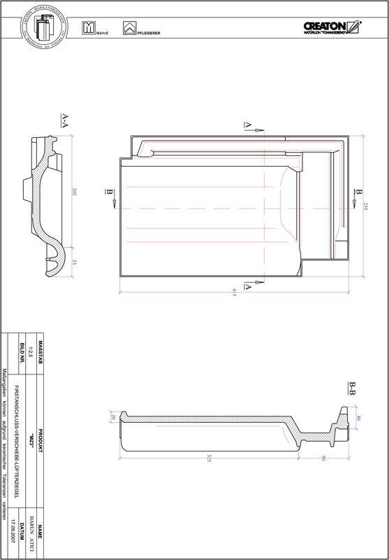 Prodotto file CAD MZ3 Tratto di scorrimento VSB