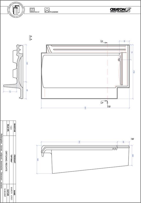 Prodotto file CAD TERRA OPTIMA Gronda di frontespizio destra OGR