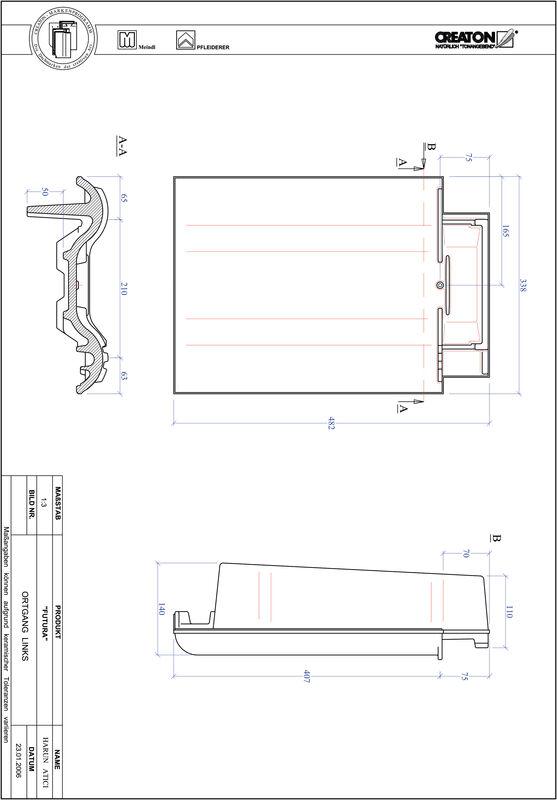 Prodotto file CAD FUTURA Gronda di frontespizio sinistra OGL