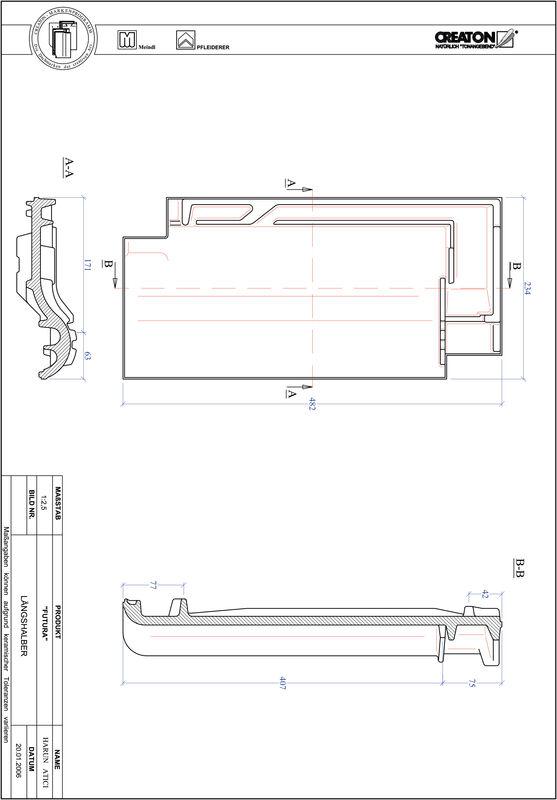 Prodotto file CAD FUTURA Mezza tegola LH