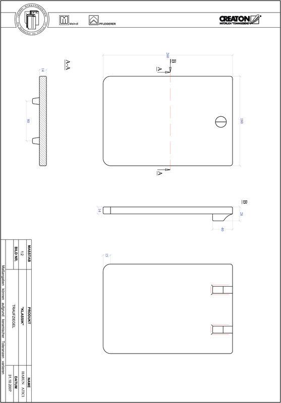 Prodotto file CAD KLASSIK Taglio tondo RUND-TRAUFZIEGEL
