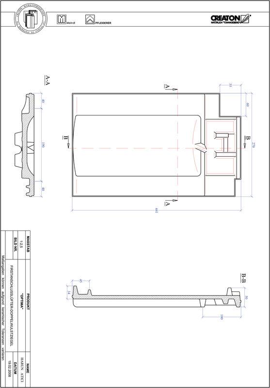 Prodotto file CAD TERRA OPTIMA Esalatore raccordo colmo tegola a doppia onda FALDWZ