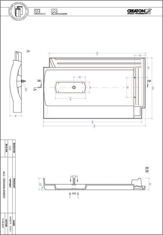 Prodotto file CAD TERRA OPTIMA Alluminio base GRUNDALU