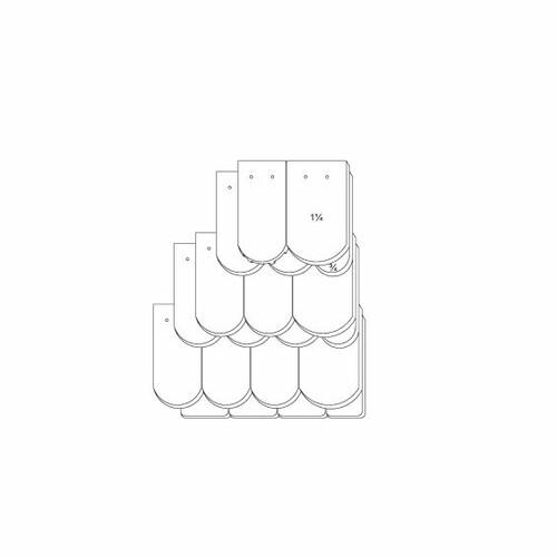 Prodotto disegno tecnico KLASSIK OGAusbildung-Kronendeckung-3-4-1-1-4-Traufziegel