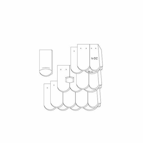 Prodotto disegno tecnico KLASSIK OGAusbildung-Kronendeckung-mit-OG-3-4-1-1-4