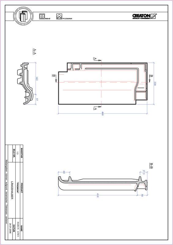 Prodotto file CAD PREMION Mezza tegola LH