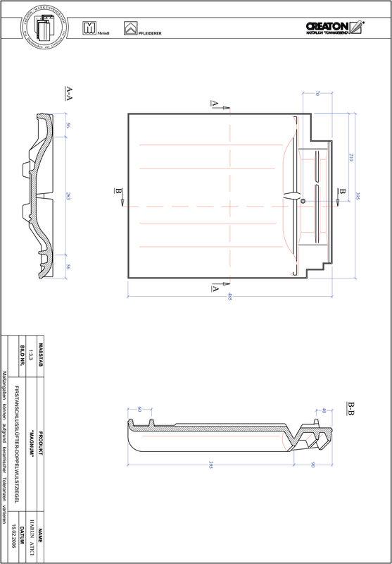 Prodotto file CAD MAGNUM Esalatore raccordo colmo tegola a doppia onda FALDWZ