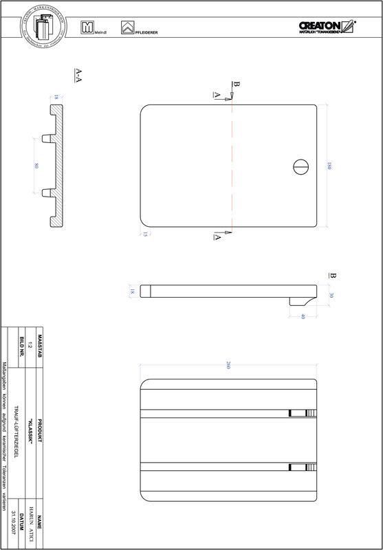 Prodotto file CAD KLASSIK Taglio tondo RUND-TRAUF-LUEFTZ