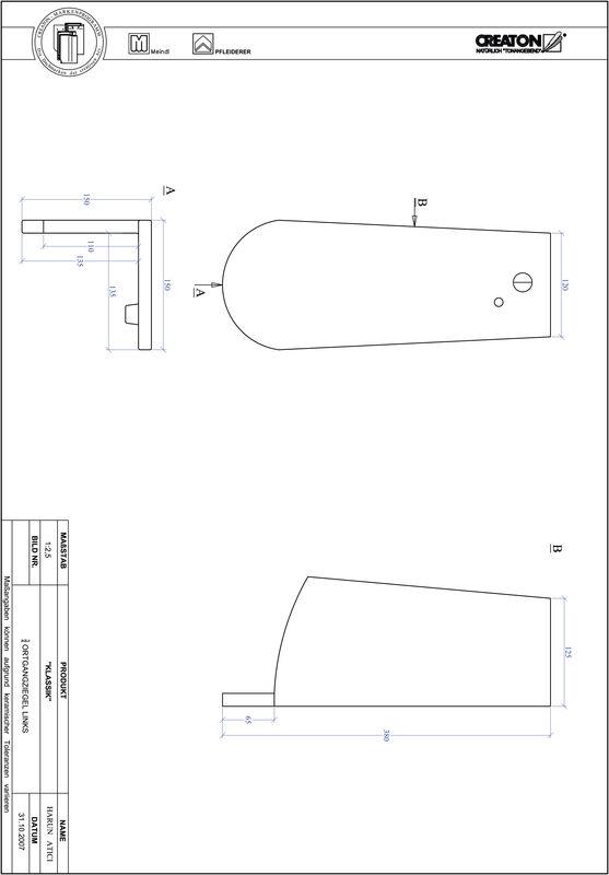 Prodotto file CAD KLASSIK Taglio tondo RUND-OGL-3-4