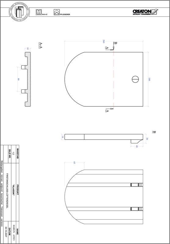 Prodotto file CAD KLASSIK Taglio tondo RUND-FALZ