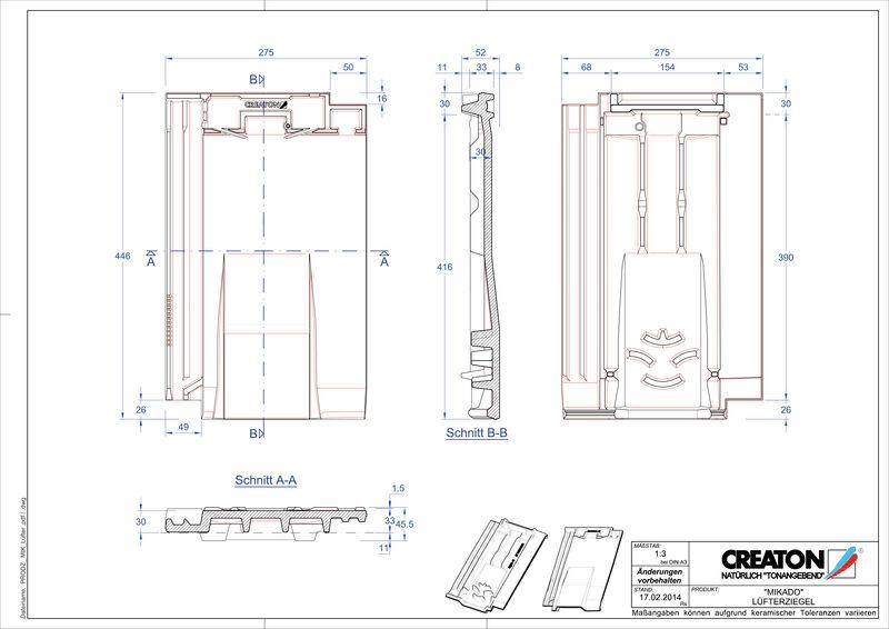 Prodotto file CAD MIKADO Tegola aeratore LUEFTZ