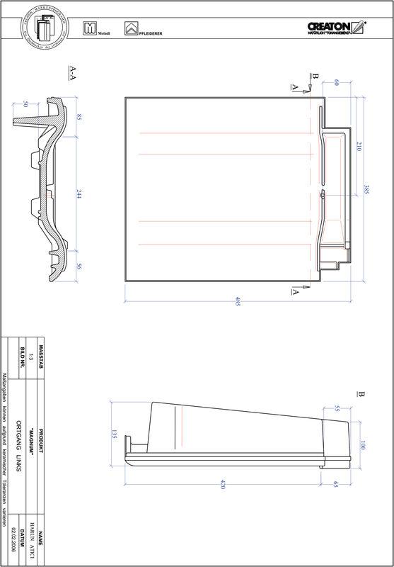 Prodotto file CAD MAGNUM Gronda di frontespizio sinistra OGL