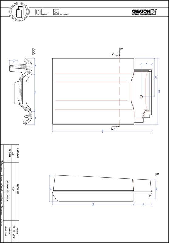 Prodotto file CAD MZ3 Gronda di frontespizio sinistra OGL