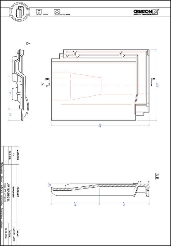 Prodotto file CAD MAGNUM Tegola aeratore LUEFTZ