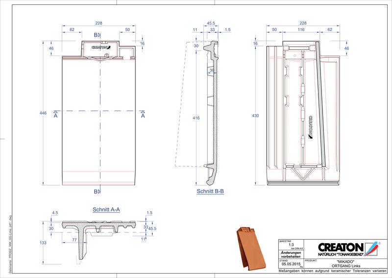 Prodotto file CAD MIKADO Gronda di frontespizio sinistra OGL