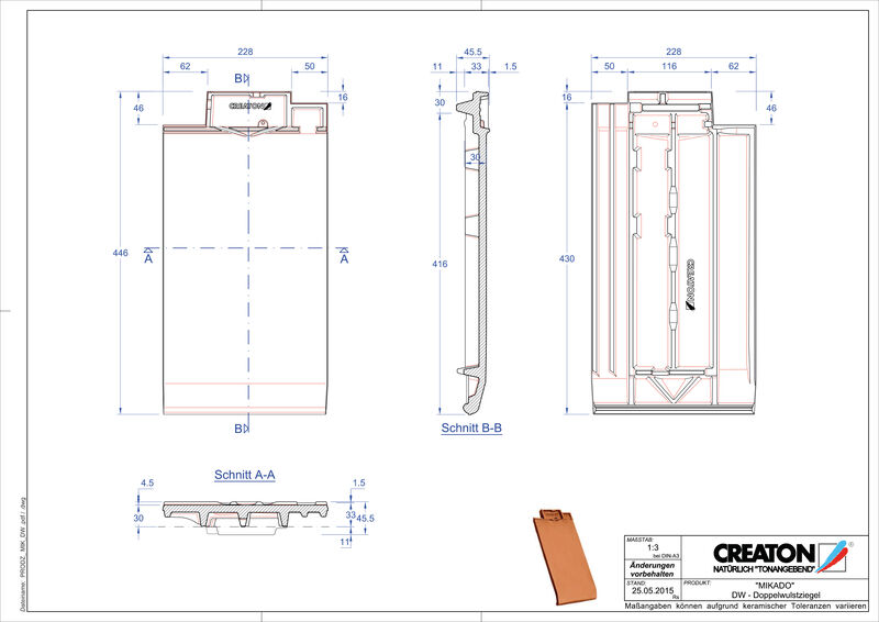 Prodotto file CAD MIKADO Tegola a doppia onda DWZ