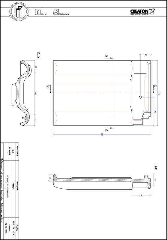 Prodotto file CAD MZ3 Tegola a doppia onda DWZ