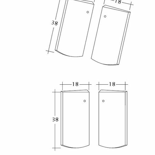 Prodotto disegno tecnico PROFIL Kera-Saechs-18cm-Unterlaeufer