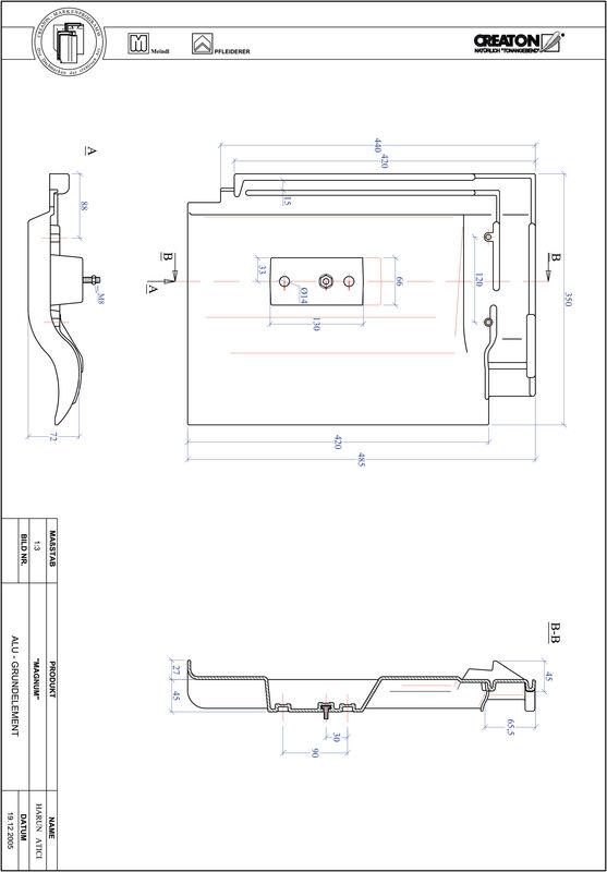 Prodotto file CAD MAGNUM Alluminio base GRUNDALU
